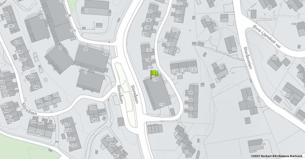 Kart sentrert på geolokasjonen 59.8433646248456 breddegrad, 10.7957907200404 lengdegrad