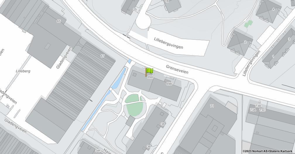 Kart sentrert på geolokasjonen 59.9181229977946 breddegrad, 10.7961275524311 lengdegrad