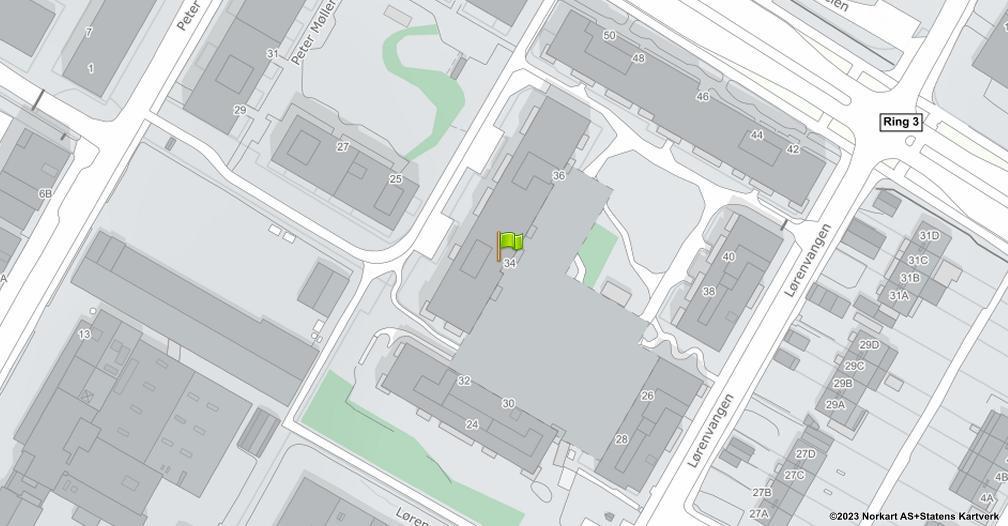 Kart sentrert på geolokasjonen 59.9321615447929 breddegrad, 10.7968257862143 lengdegrad