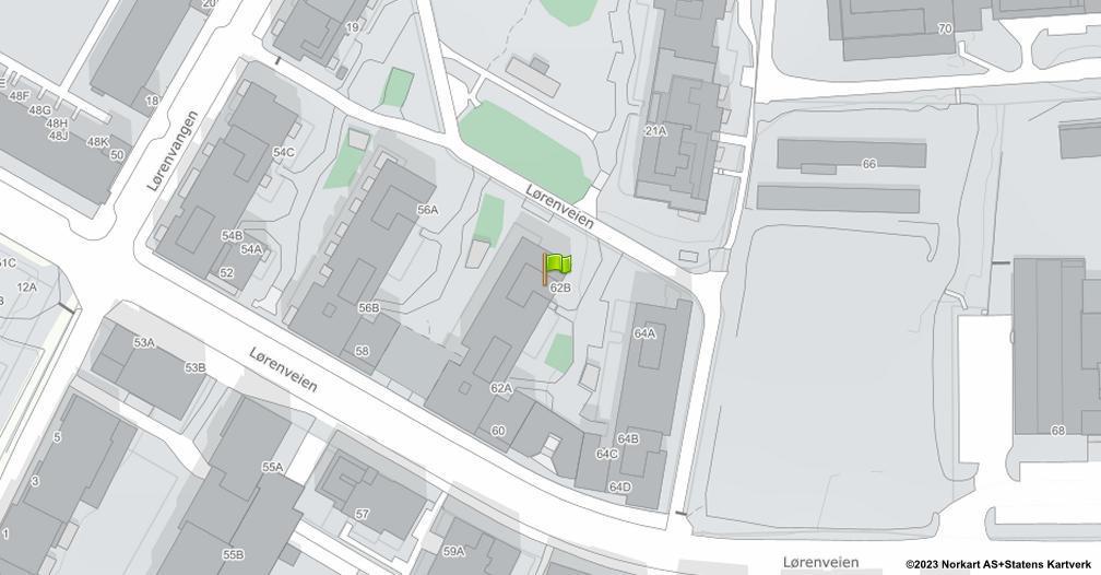 Kart sentrert på geolokasjonen 59.929680593029 breddegrad, 10.7976346412961 lengdegrad