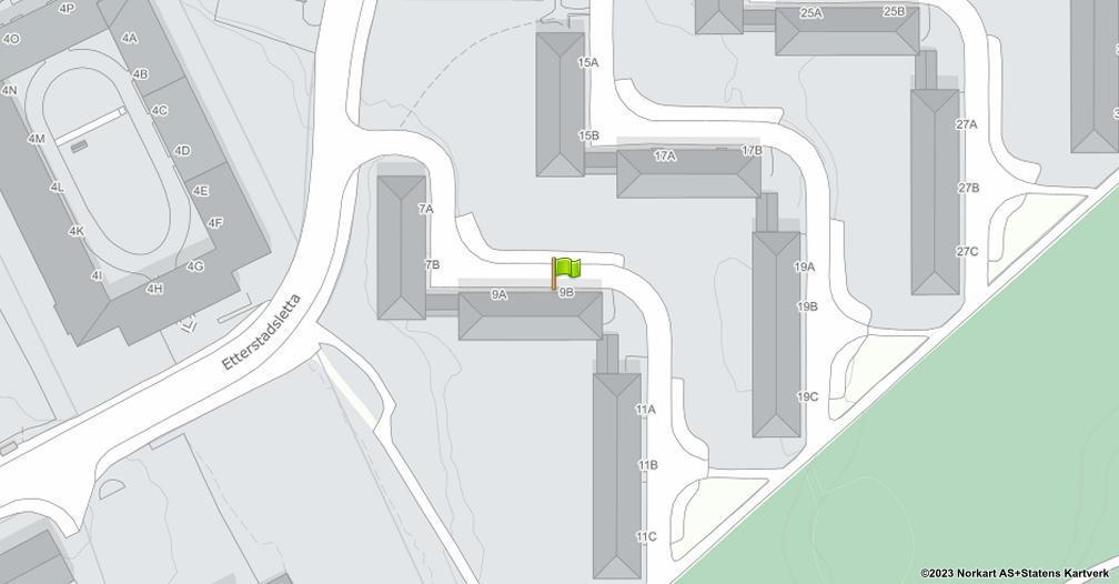 Kart sentrert på geolokasjonen 59.9104097549846 breddegrad, 10.7979624499228 lengdegrad