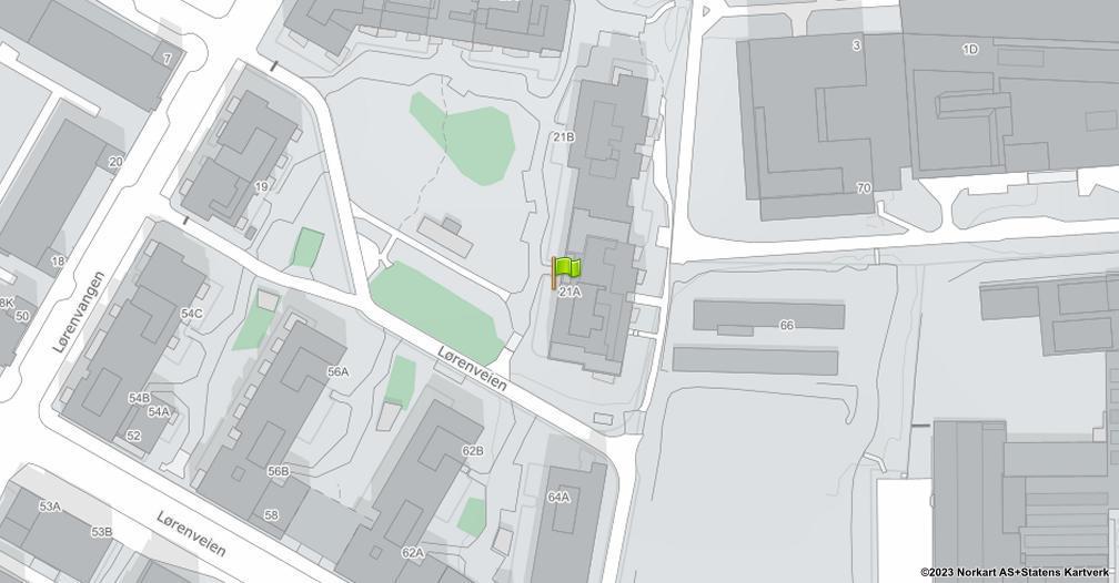 Kart sentrert på geolokasjonen 59.9300410899579 breddegrad, 10.798071102023 lengdegrad