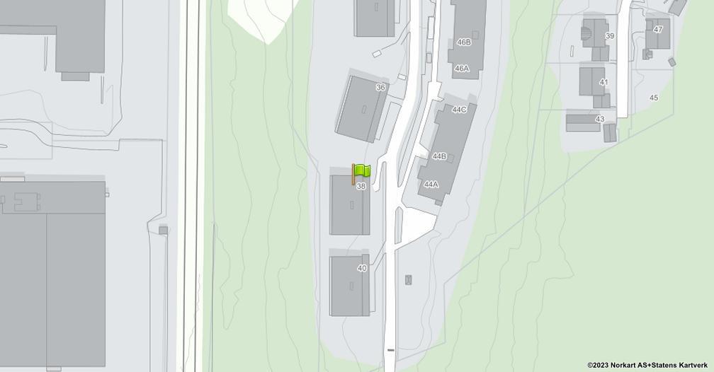 Kart sentrert på geolokasjonen 59.8251581330215 breddegrad, 10.7990596962068 lengdegrad