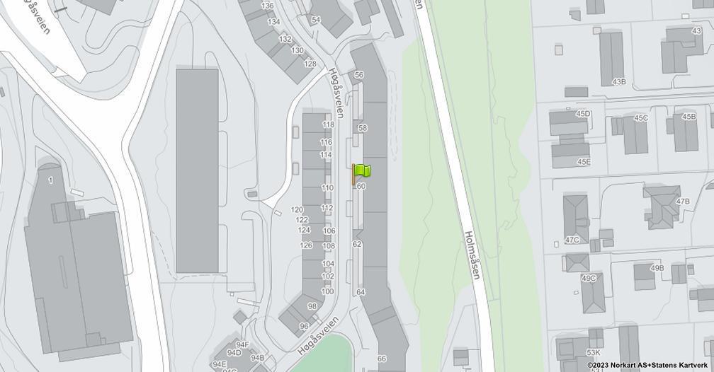 Kart sentrert på geolokasjonen 59.8293377093554 breddegrad, 10.8008694056735 lengdegrad