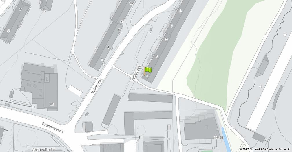 Kart sentrert på geolokasjonen 59.9182135998198 breddegrad, 10.8013362362065 lengdegrad