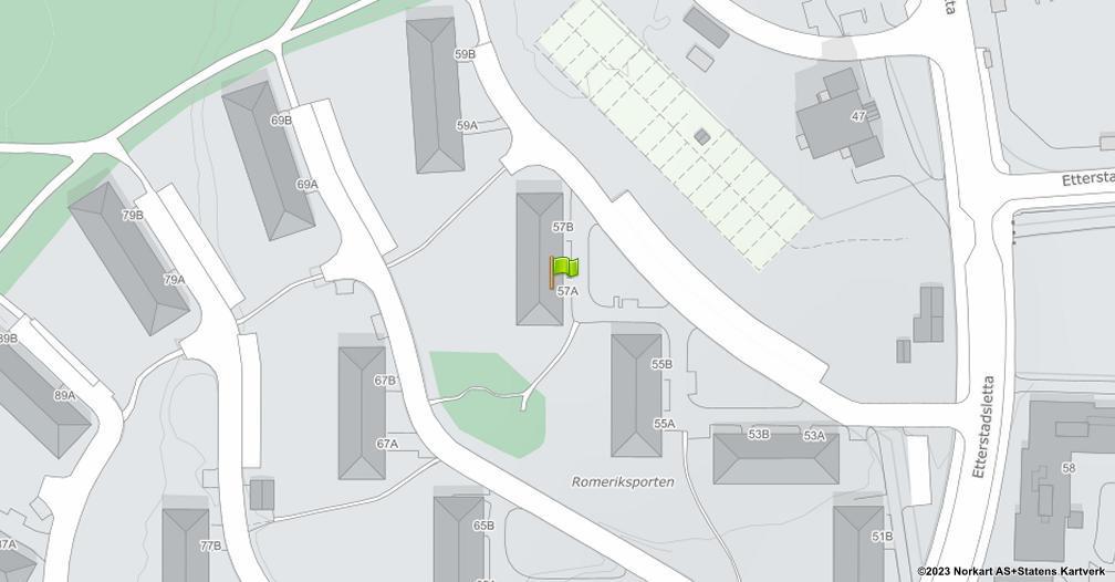 Kart sentrert på geolokasjonen 59.9092502084004 breddegrad, 10.8018448982061 lengdegrad