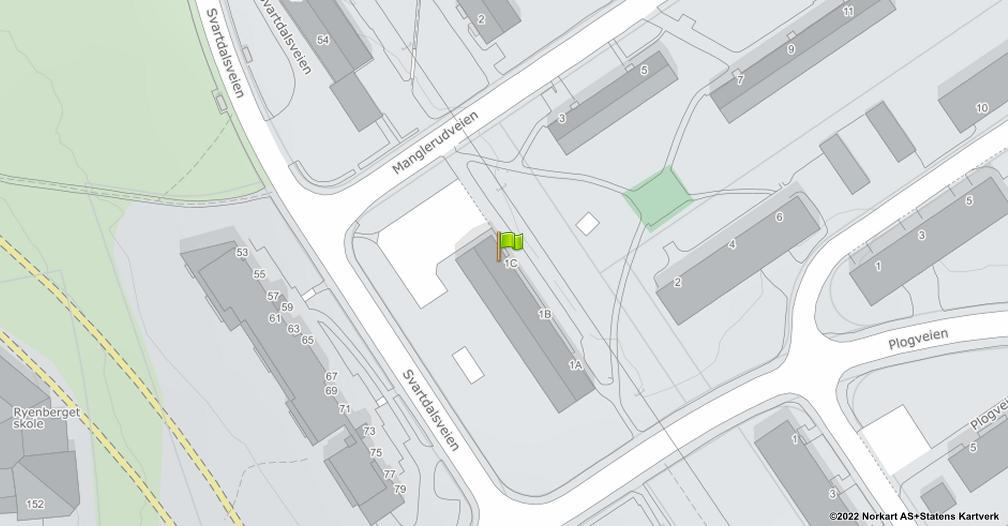 Kart sentrert på geolokasjonen 59.8994404716495 breddegrad, 10.8047353665883 lengdegrad