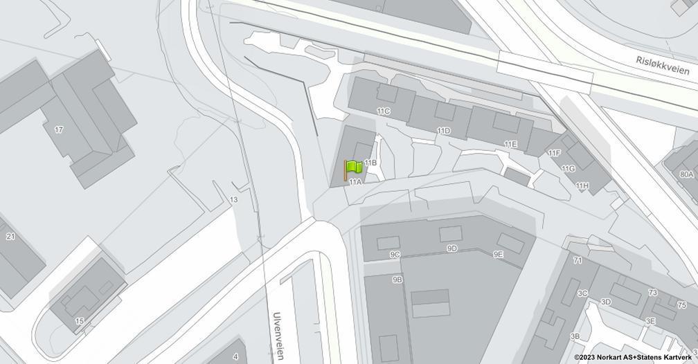 Kart sentrert på geolokasjonen 59.9264470157871 breddegrad, 10.8082259131401 lengdegrad