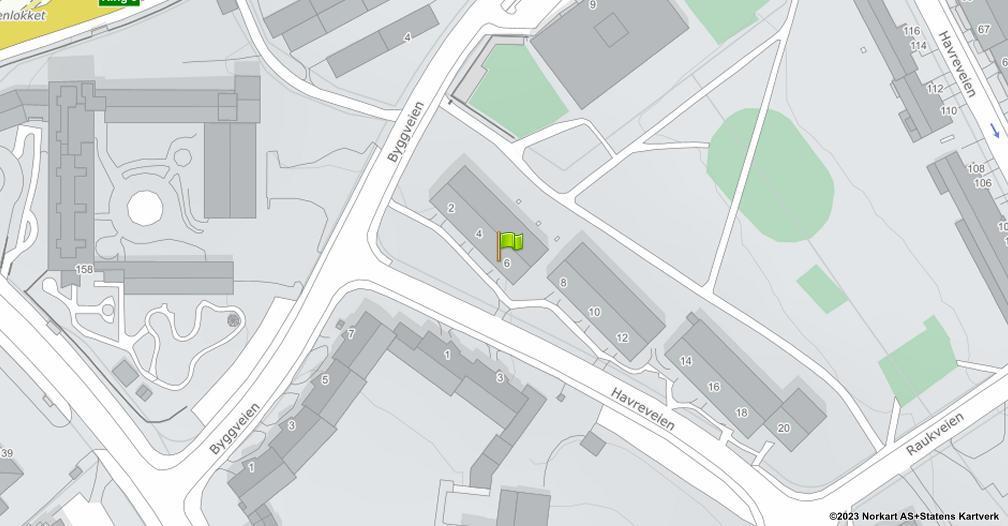 Kart sentrert på geolokasjonen 59.8946592525722 breddegrad, 10.8082299168671 lengdegrad