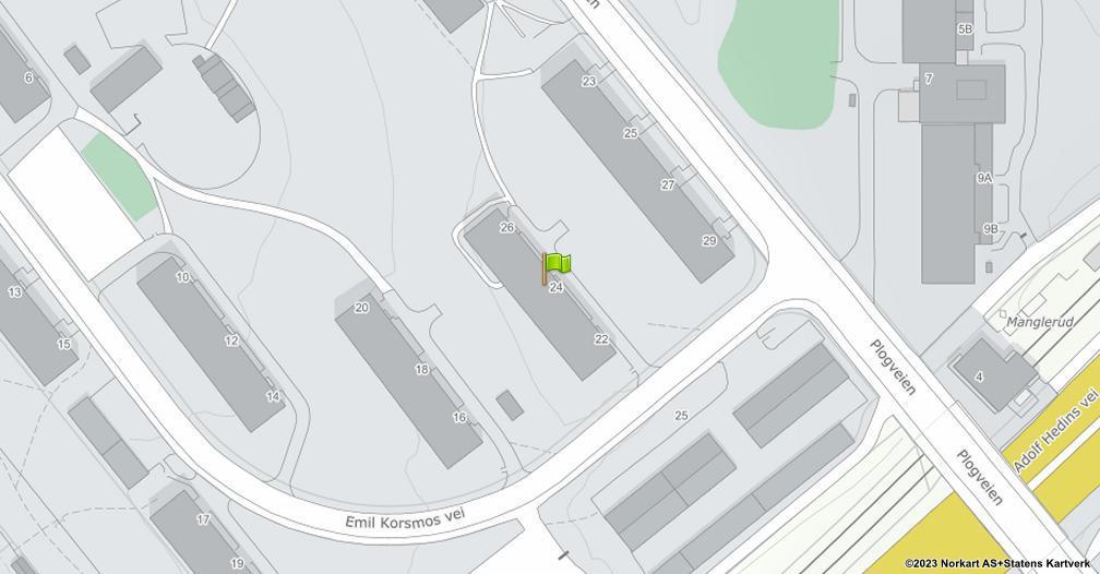 Kart sentrert på geolokasjonen 59.8979564313456 breddegrad, 10.8101254257701 lengdegrad