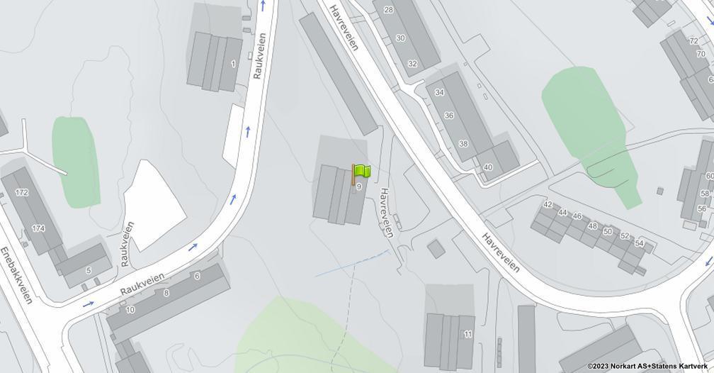 Kart sentrert på geolokasjonen 59.8930048688988 breddegrad, 10.8103207527093 lengdegrad