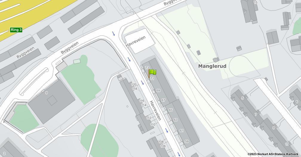 Kart sentrert på geolokasjonen 59.895428589063 breddegrad, 10.8104169018415 lengdegrad