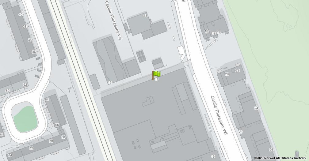 Kart sentrert på geolokasjonen 59.87490463256836 breddegrad, 10.810454368591309 lengdegrad