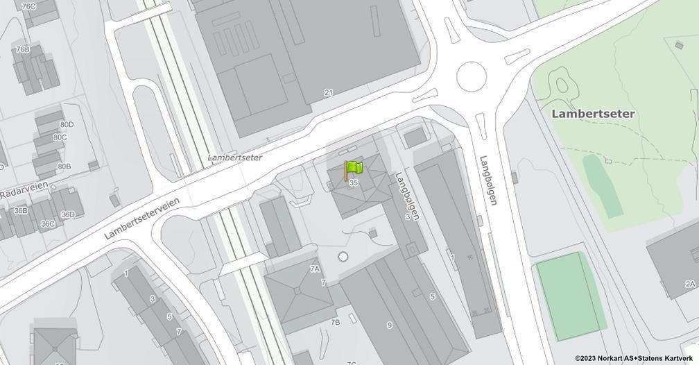 Kart sentrert på geolokasjonen 59.8734838178958 breddegrad, 10.8112600469917 lengdegrad