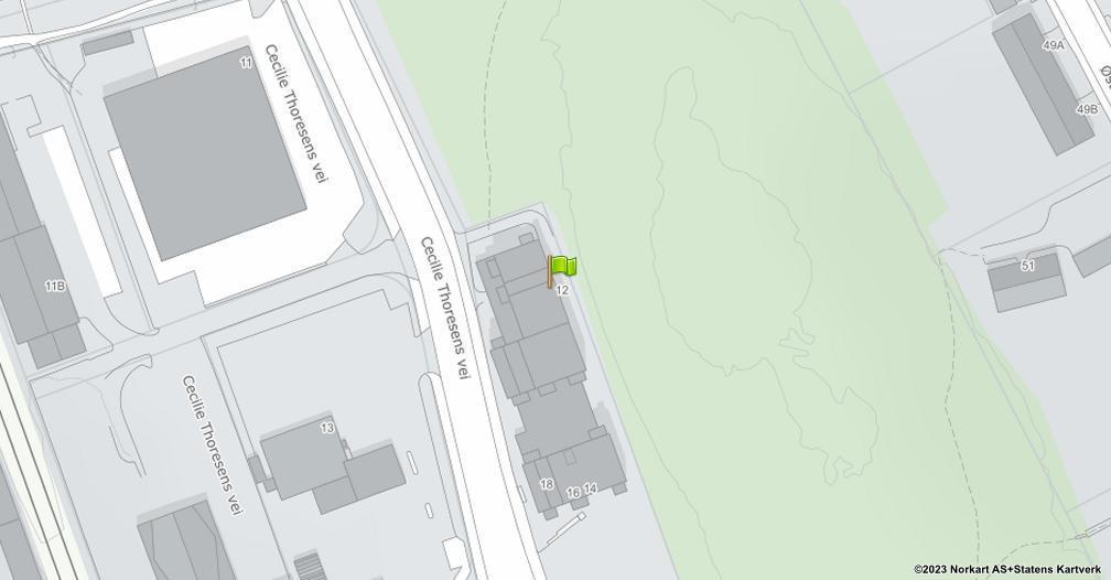 Kart sentrert på geolokasjonen 59.8757505563243 breddegrad, 10.8113422806354 lengdegrad