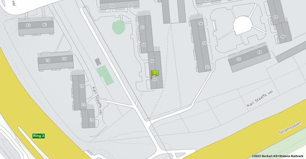 Kart sentrert på geolokasjonen 59.9184601545095 breddegrad, 10.8115282975619 lengdegrad