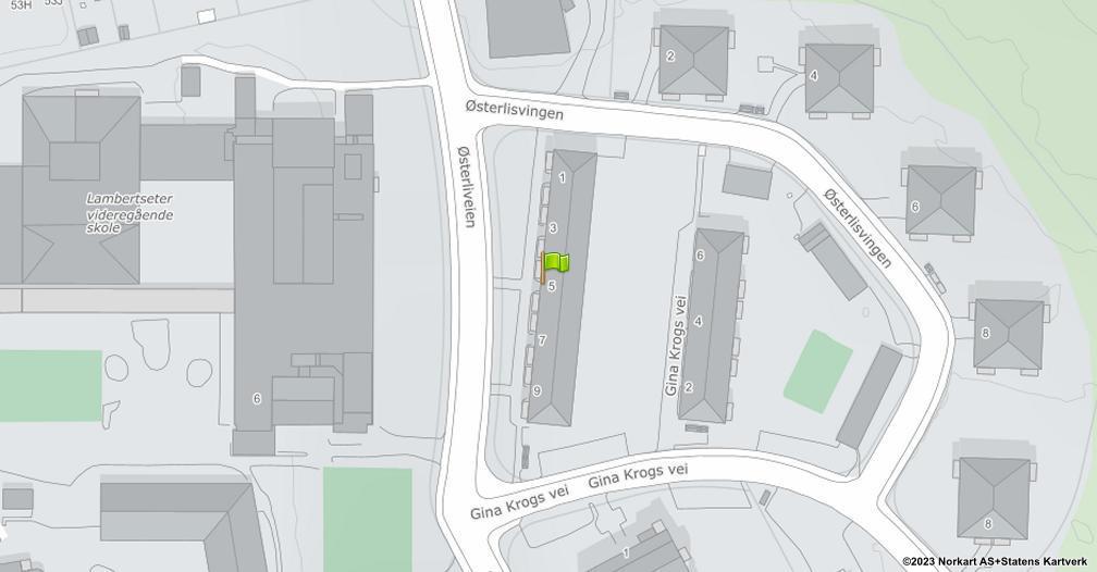 Kart sentrert på geolokasjonen 59.8791443058636 breddegrad, 10.8117645943858 lengdegrad