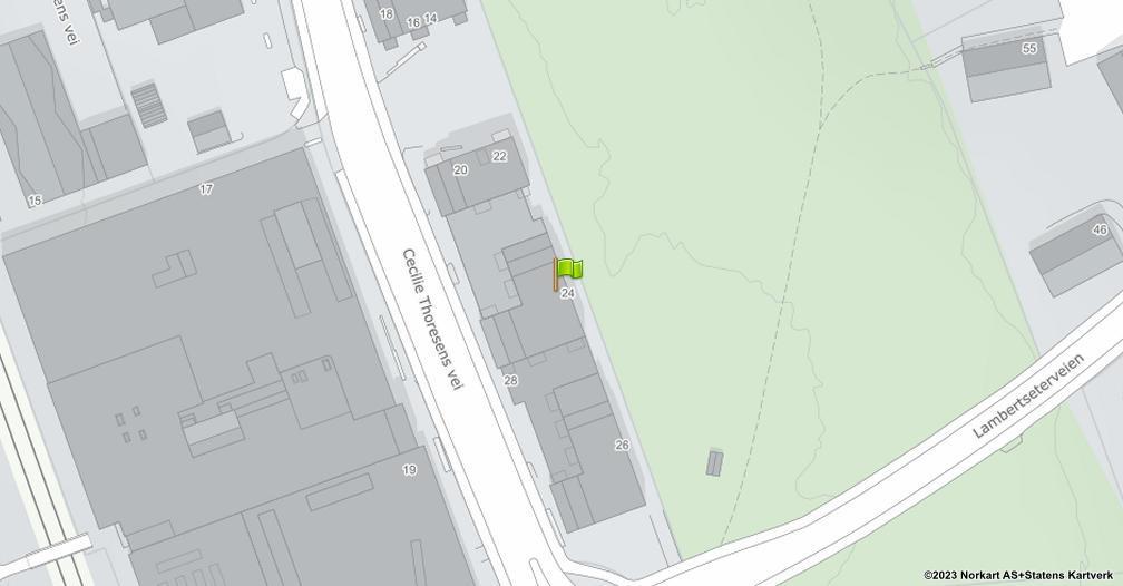 Kart sentrert på geolokasjonen 59.874679566142 breddegrad, 10.8120879466208 lengdegrad