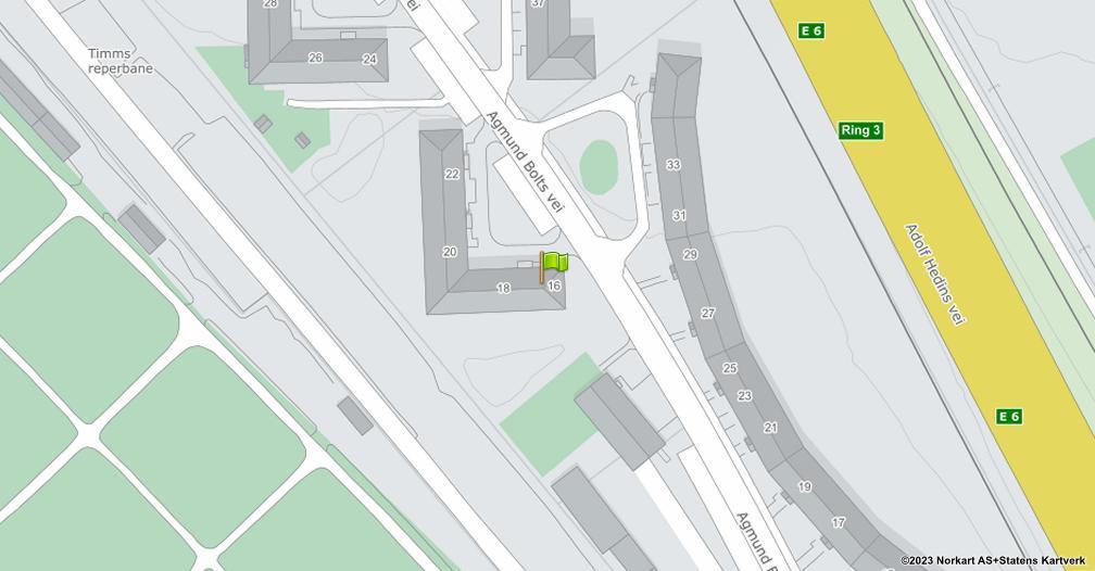 Kart sentrert på geolokasjonen 59.9145429407814 breddegrad, 10.8129246041982 lengdegrad