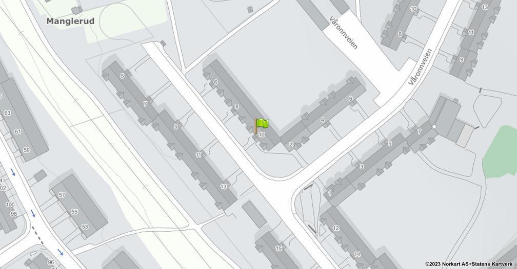 Kart sentrert på geolokasjonen 59.8949759541122 breddegrad, 10.8132882026424 lengdegrad