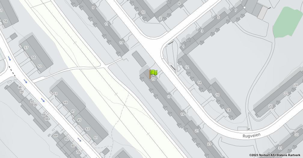Kart sentrert på geolokasjonen 59.894416805854 breddegrad, 10.8134543582951 lengdegrad