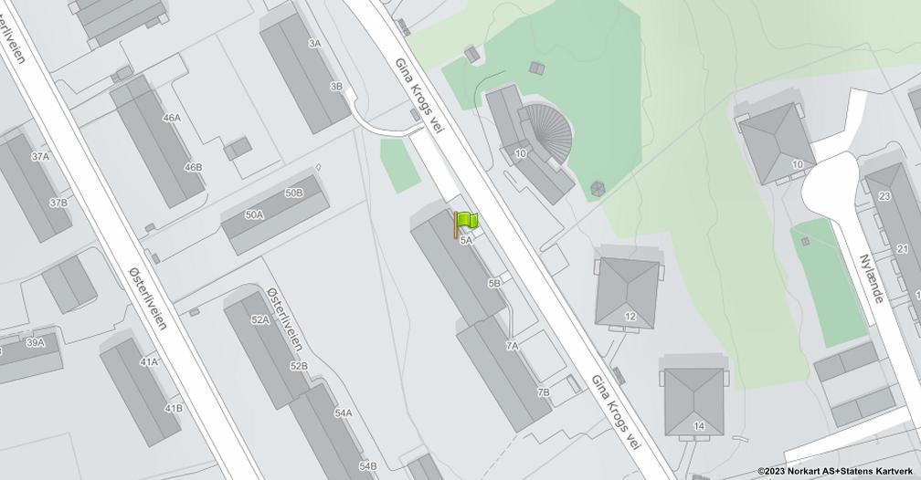 Kart sentrert på geolokasjonen 59.8778284564797 breddegrad, 10.8140514120948 lengdegrad