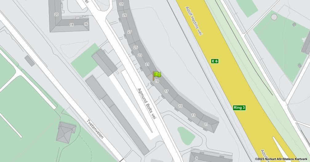 Kart sentrert på geolokasjonen 59.9140779686369 breddegrad, 10.814079747936 lengdegrad