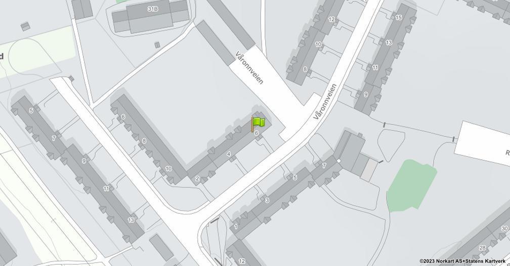 Kart sentrert på geolokasjonen 59.8951523797705 breddegrad, 10.8141737557544 lengdegrad