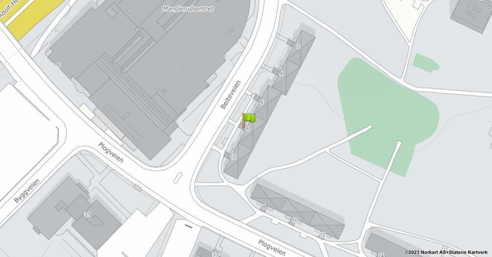 Kart sentrert på geolokasjonen 59.8969635123344 breddegrad, 10.814794551126 lengdegrad