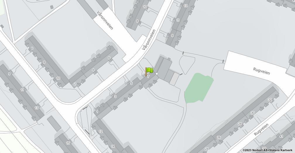 Kart sentrert på geolokasjonen 59.894990459581 breddegrad, 10.8148442193109 lengdegrad