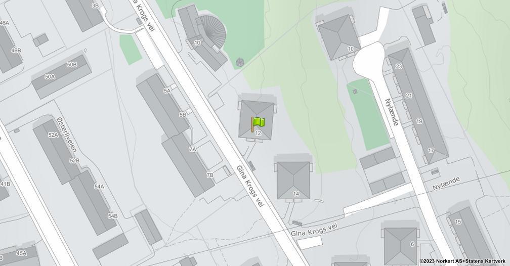 Kart sentrert på geolokasjonen 59.8776184658699 breddegrad, 10.8149511770411 lengdegrad