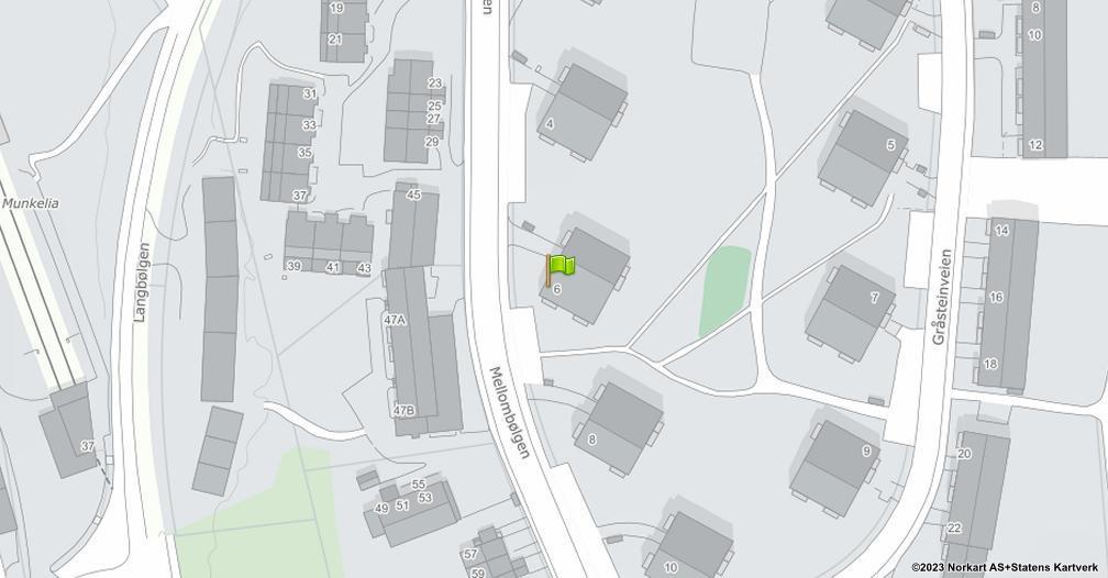 Kart sentrert på geolokasjonen 59.8686421799836 breddegrad, 10.8152121306504 lengdegrad