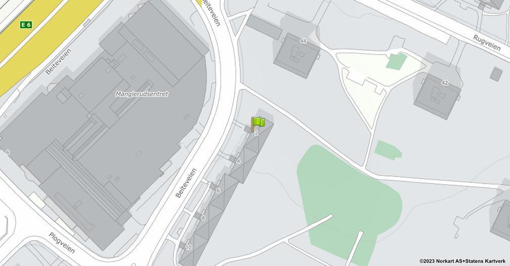 Kart sentrert på geolokasjonen 59.8973855983848 breddegrad, 10.8153199368636 lengdegrad