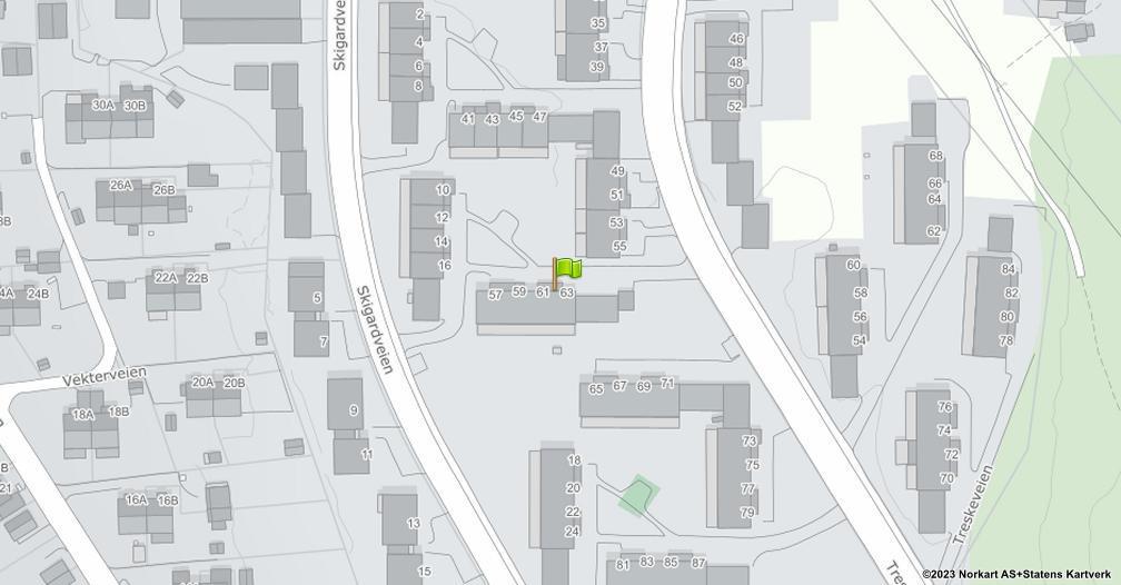 Kart sentrert på geolokasjonen 59.8908110953434 breddegrad, 10.8157065482284 lengdegrad