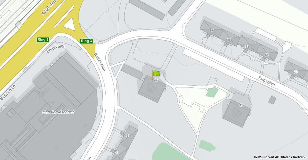 Kart sentrert på geolokasjonen 59.8978428699124 breddegrad, 10.8157685951185 lengdegrad