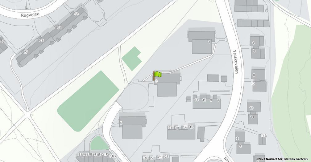 Kart sentrert på geolokasjonen 59.8934048159016 breddegrad, 10.8171530086815 lengdegrad