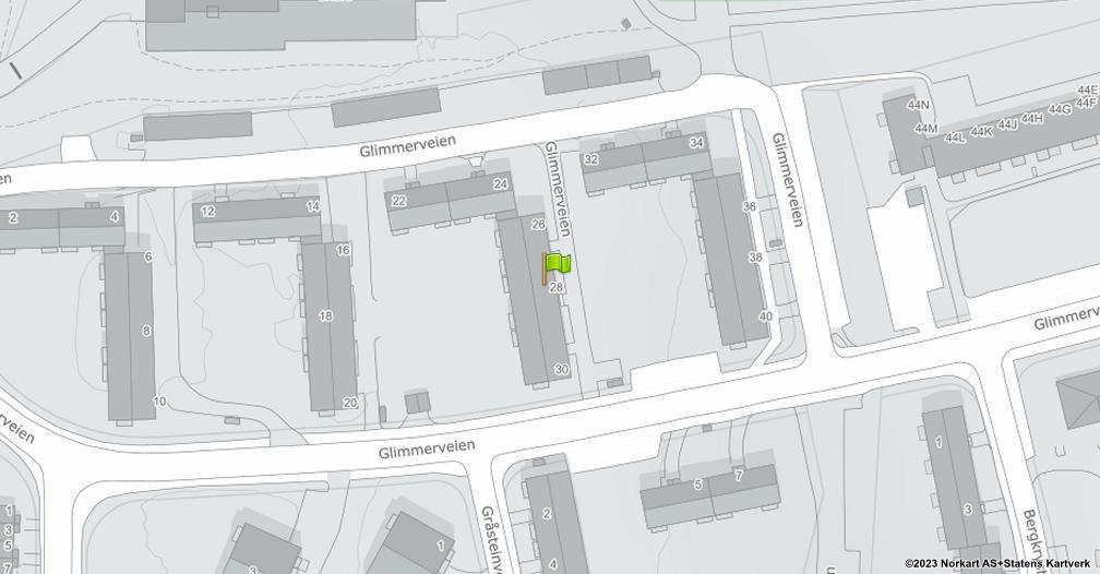 Kart sentrert på geolokasjonen 59.8702769438146 breddegrad, 10.8171589886198 lengdegrad