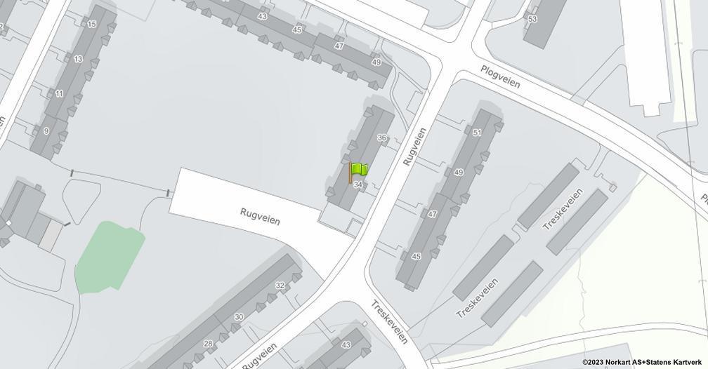 Kart sentrert på geolokasjonen 59.8951519630888 breddegrad, 10.8174629641352 lengdegrad