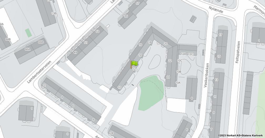 Kart sentrert på geolokasjonen 59.8752196606775 breddegrad, 10.8176074264197 lengdegrad