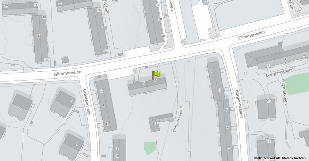 Kart sentrert på geolokasjonen 59.8698430525934 breddegrad, 10.8180105815553 lengdegrad