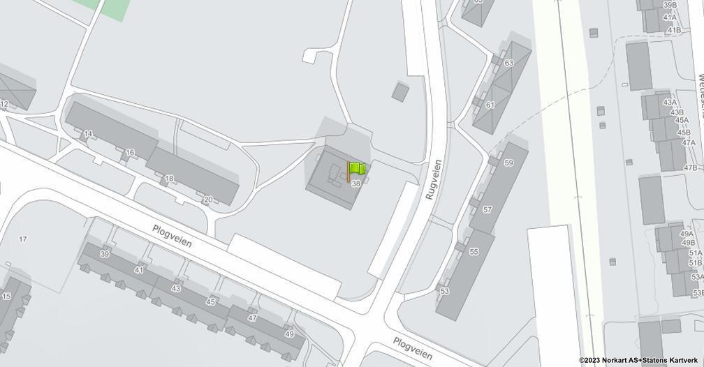 Kart sentrert på geolokasjonen 59.8961315616241 breddegrad, 10.8180706680556 lengdegrad