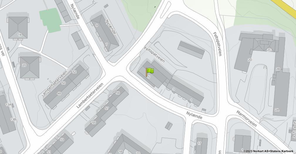 Kart sentrert på geolokasjonen 59.8761157780487 breddegrad, 10.8184067267157 lengdegrad