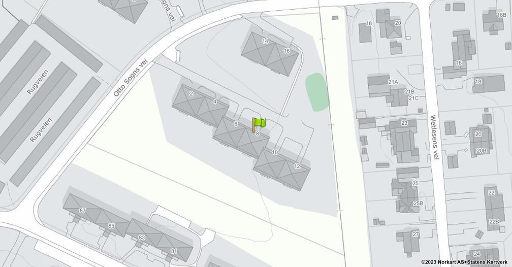 Kart sentrert på geolokasjonen 59.8986325953802 breddegrad, 10.8184219157969 lengdegrad