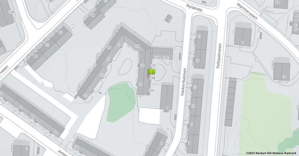 Kart sentrert på geolokasjonen 59.8751937940573 breddegrad, 10.818440335243 lengdegrad