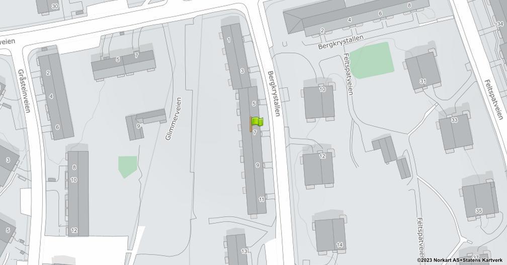 Kart sentrert på geolokasjonen 59.8694585680913 breddegrad, 10.8191863758151 lengdegrad
