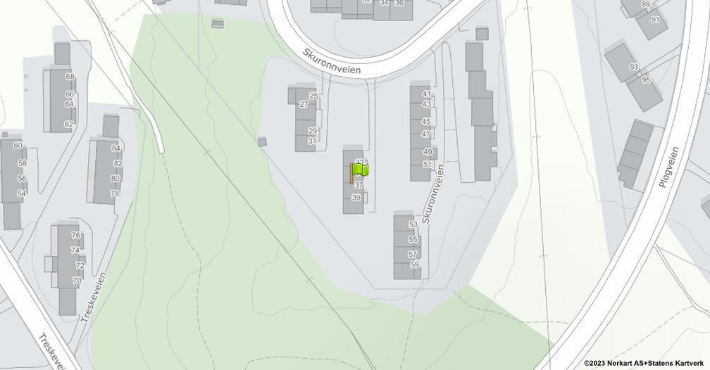 Kart sentrert på geolokasjonen 59.8907329250194 breddegrad, 10.819420051264 lengdegrad