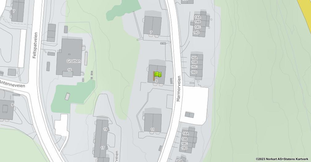 Kart sentrert på geolokasjonen 59.8740714573532 breddegrad, 10.821403570537 lengdegrad