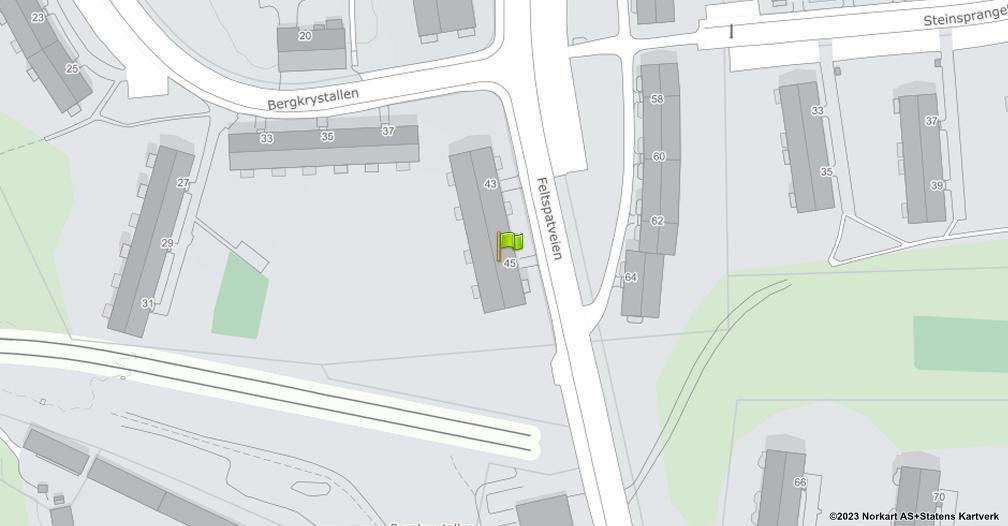 Kart sentrert på geolokasjonen 59.8675094118704 breddegrad, 10.8217948362057 lengdegrad
