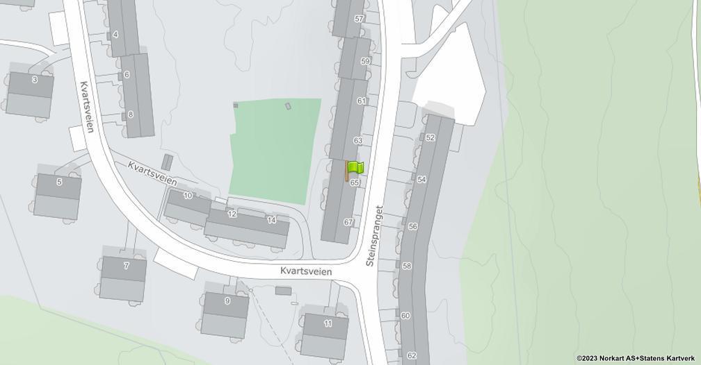 Kart sentrert på geolokasjonen 59.8654245529512 breddegrad, 10.8264137801466 lengdegrad