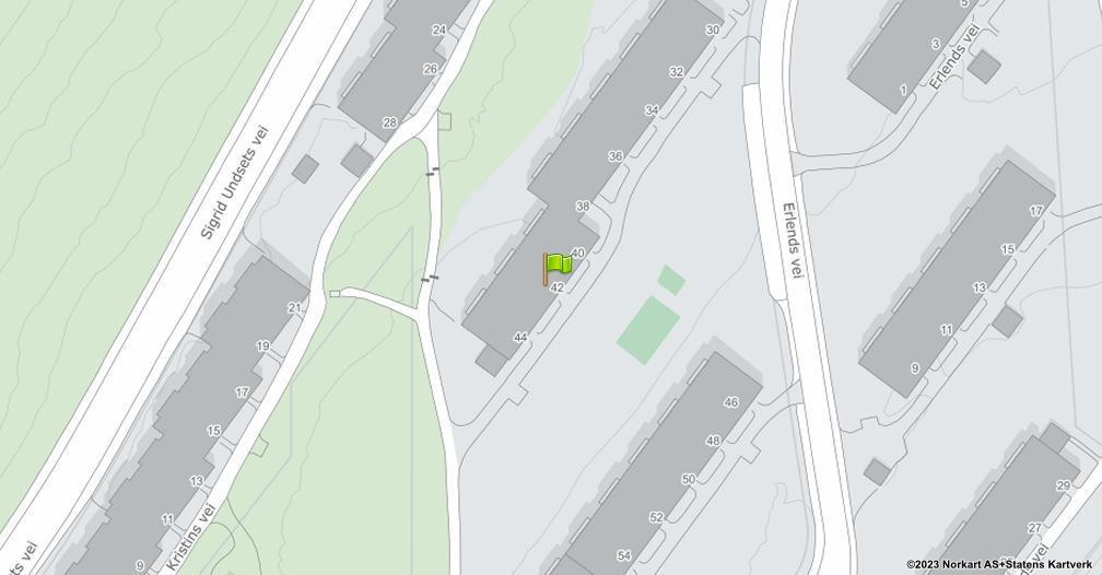 Kart sentrert på geolokasjonen 59.9175118685645 breddegrad, 10.8385058742966 lengdegrad